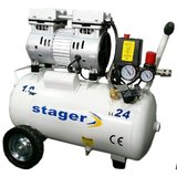 Compresor silentios Stager HM24JW-0.55 0.75CP, 24L, 8bar